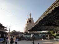 Asisbiz Meilamu Pagoda donating gold leaf Yangon Myanmar 05