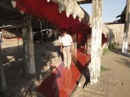 Asisbiz Meilamu Pagoda giant crocodile Yangon Myanmar 02