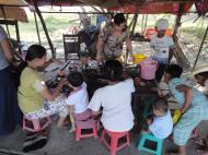 Asisbiz Meilamu Pagoda local food snacks Yangon Myanmar 01