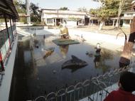 Asisbiz Meilamu Pagoda small pond statues Yangon Myanmar 01
