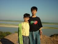 Asisbiz Mingun Pagoda and my two Nephews 01