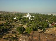 Asisbiz Myatheindan pagoda seen from Mingun Pagoda 01