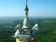 Asisbiz Mandalay Mount Popa stupa stupa decorations Nov 2004 08