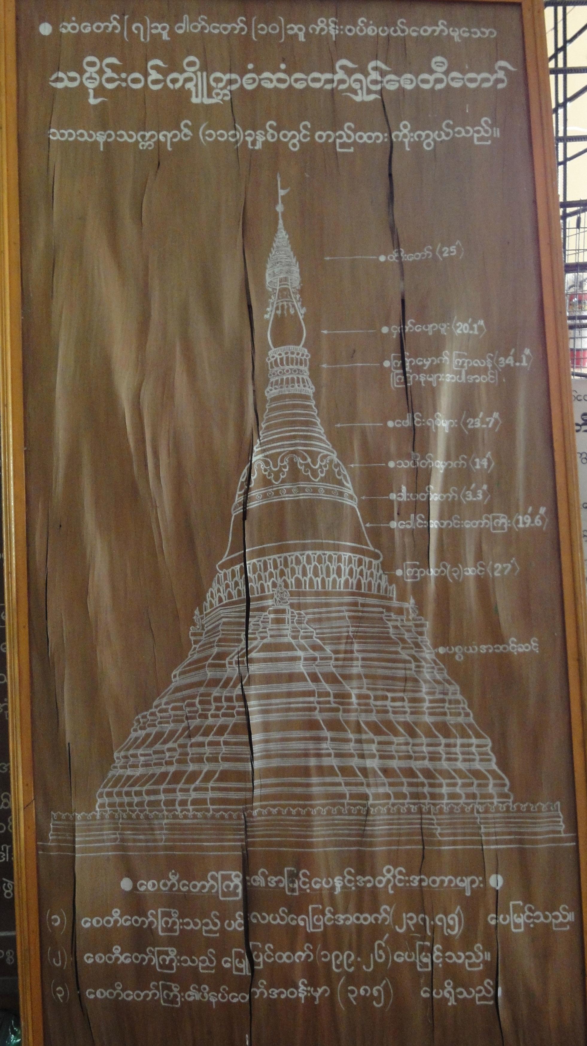Kyaik Ka San Pagoda design features South Oak ka lar township 2009 01