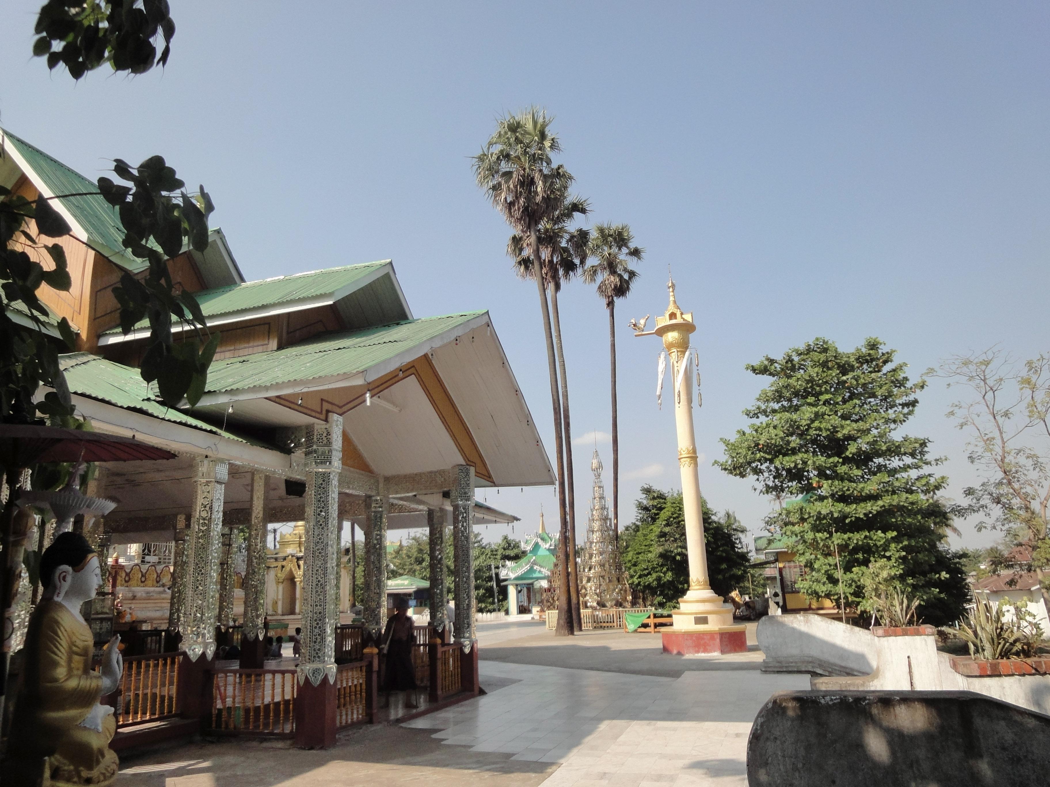 Kyaik Ka San Pagoda hintha pillar South Oak ka lar township 2009 01