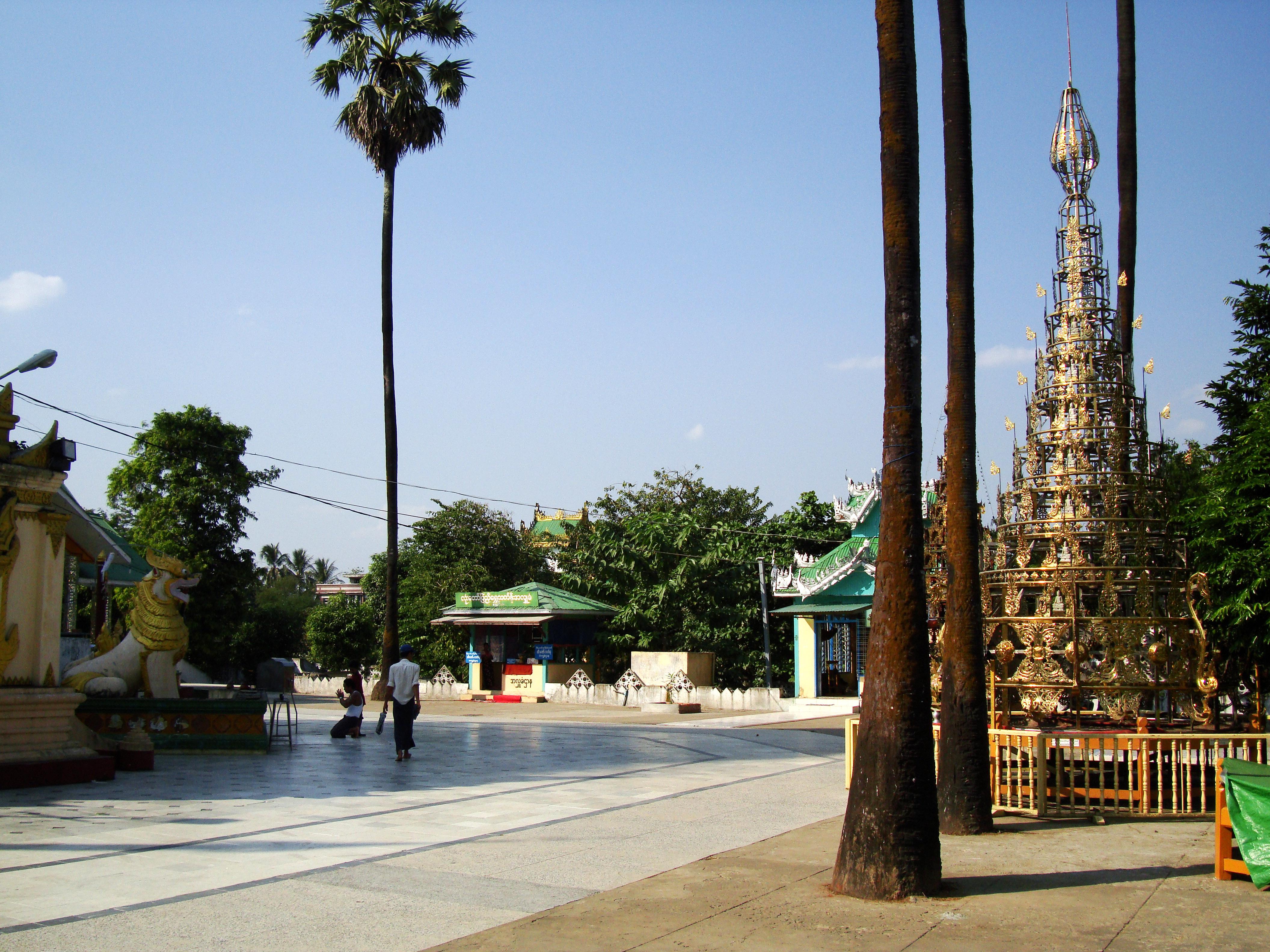 Kyaik Ka San Pagoda patio area South Oak ka lar township 2009 01