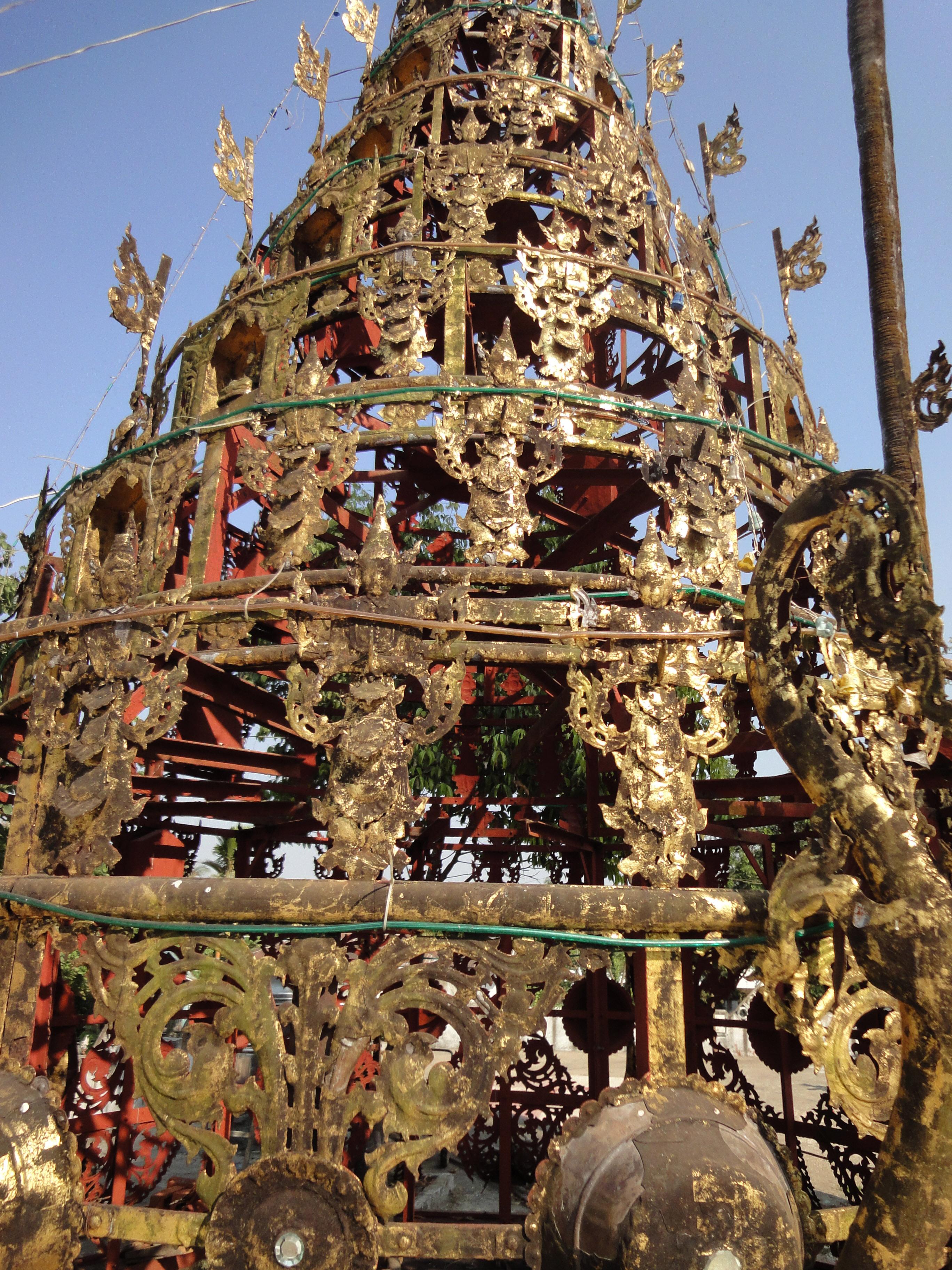 Kyaik Ka San Pagoda stupa crown design features South Oak ka lar 2009 02