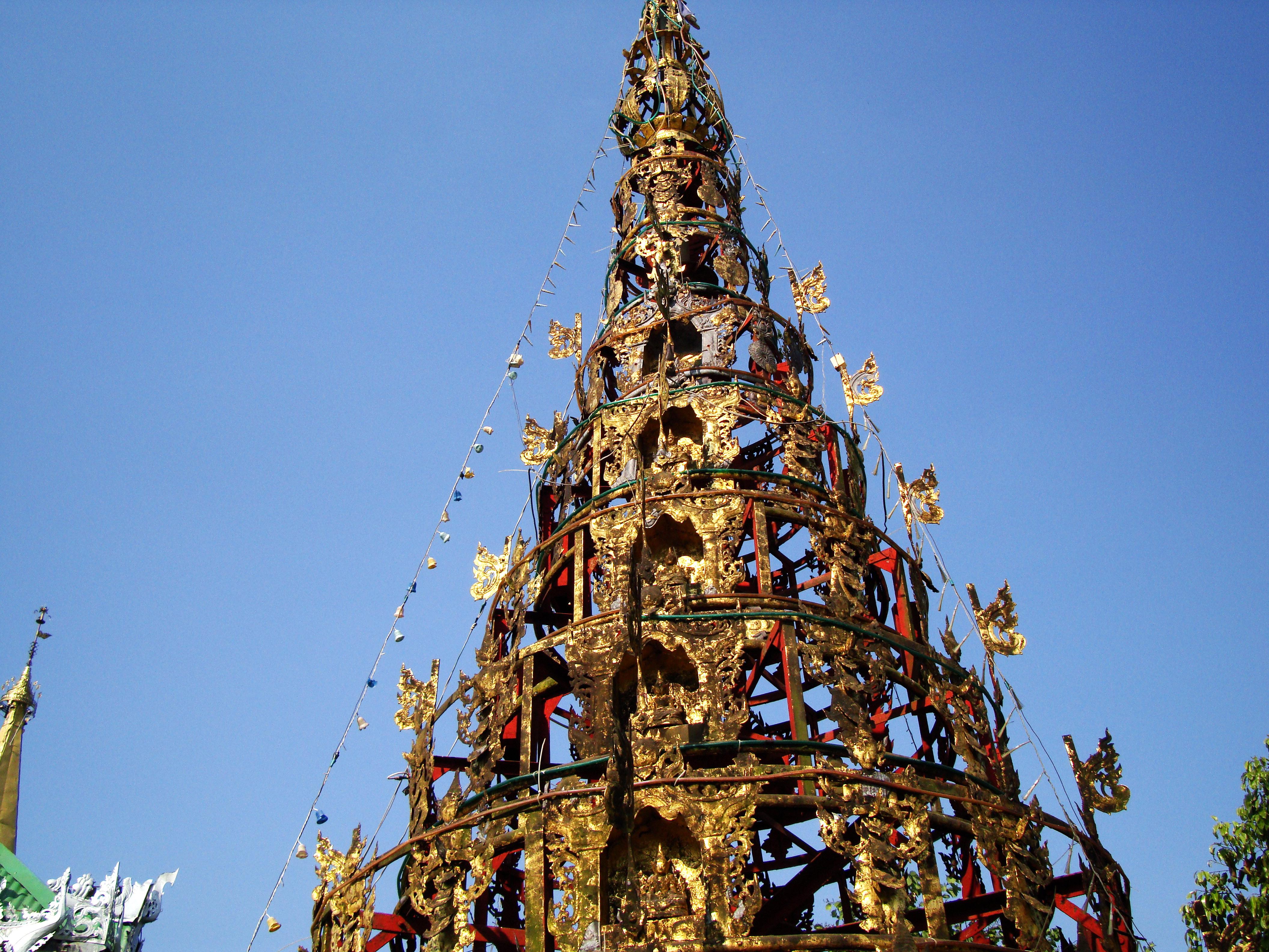 Kyaik Ka San Pagoda stupa crown design features South Oak ka lar 2009 06