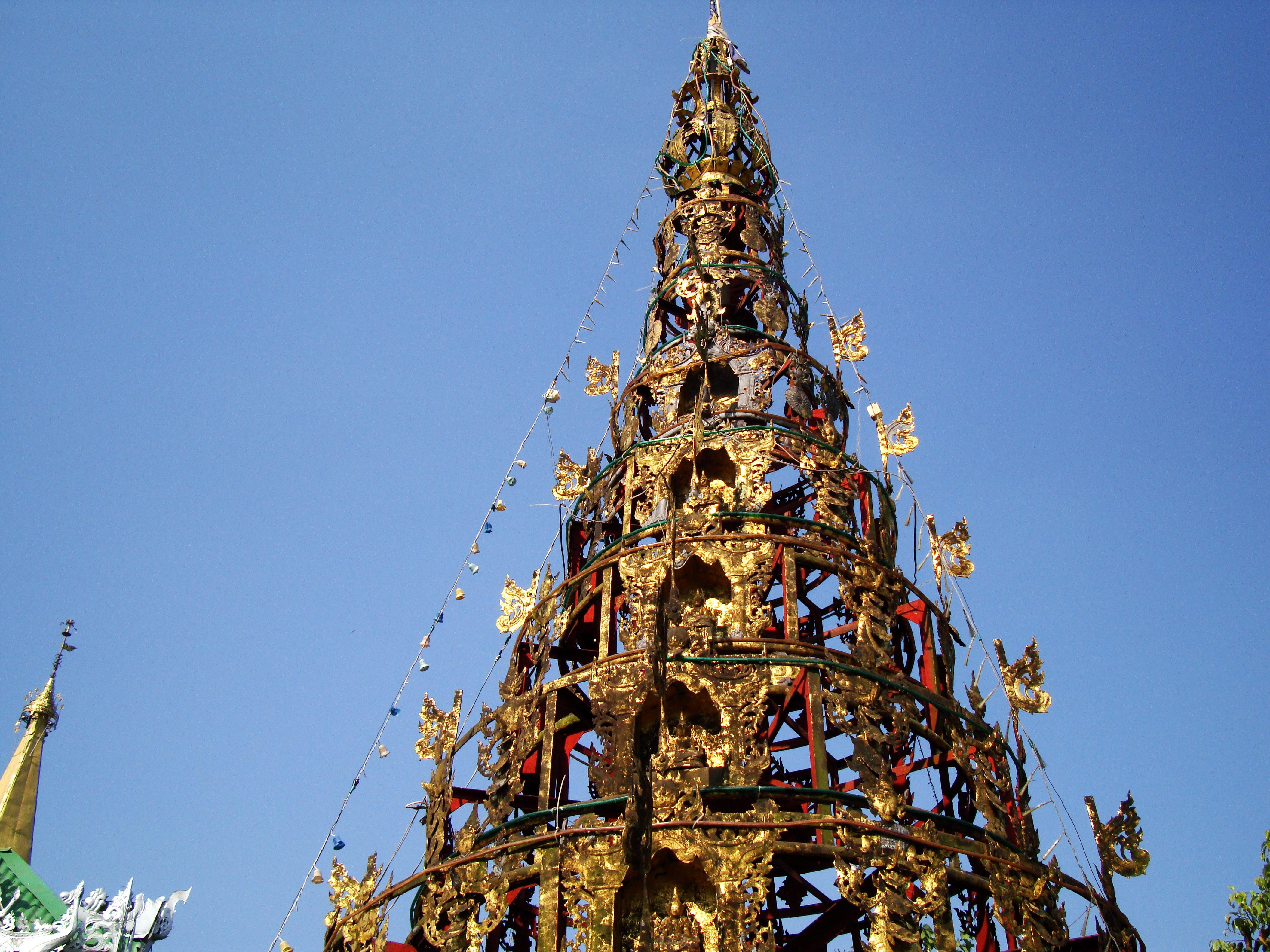 Kyaik Ka San Pagoda stupa crown design features South Oak ka lar 2009 07