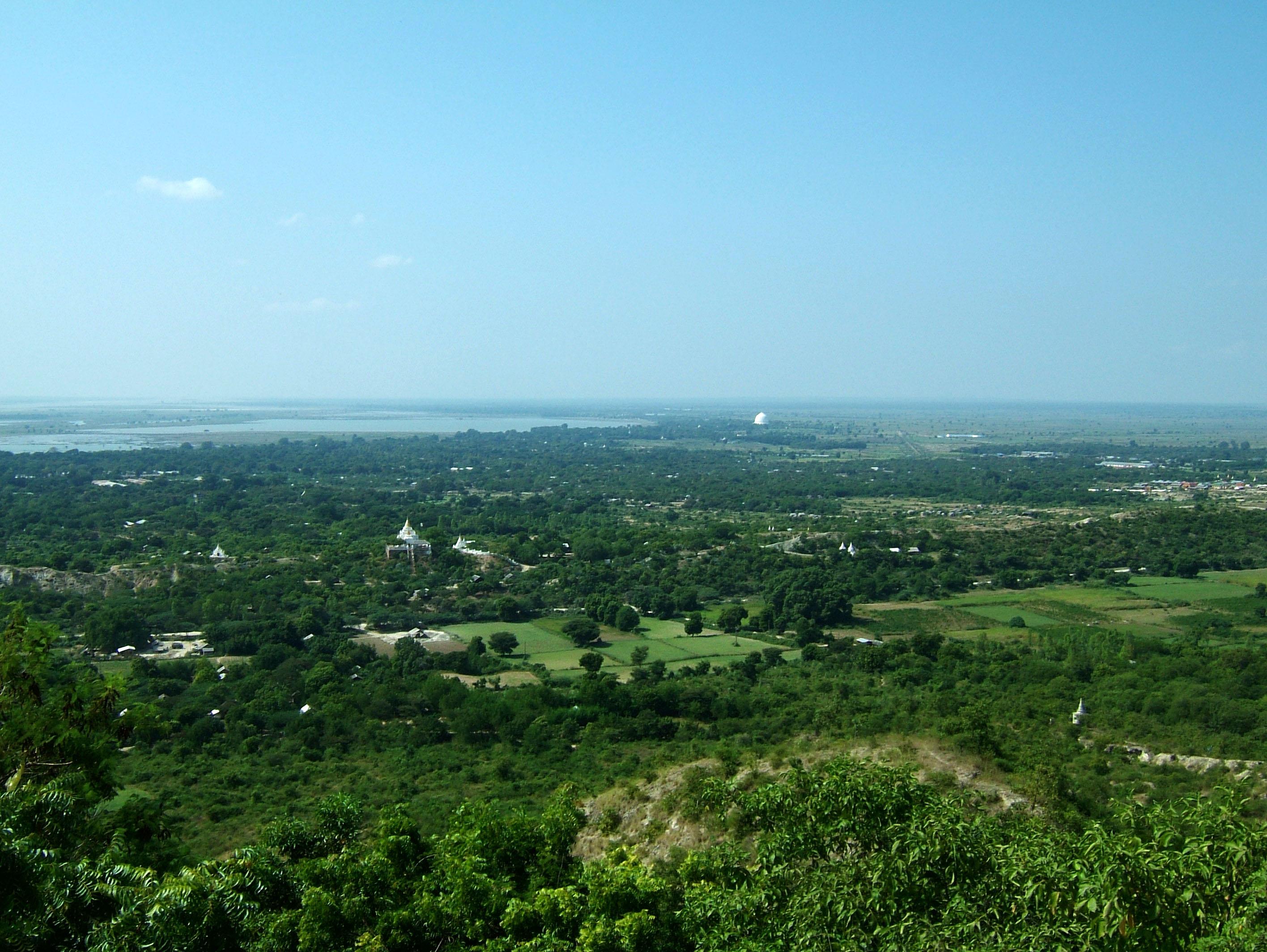 Sagaing U Min Thounzeh Pagoda panoramic views Nov 2004 03