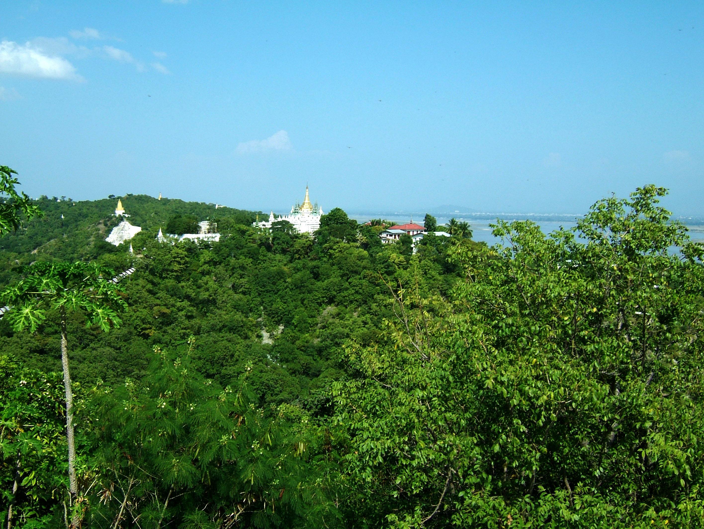Sagaing U Min Thounzeh Pagoda panoramic views Nov 2004 04
