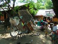 Asisbiz Myanmar Sagaing horse cart undergoing repairs Nov 2004 02