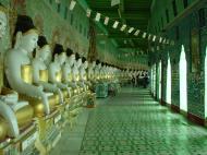 Asisbiz Sagaing U Min Thounzeh Pagoda many faces of the Buddha Dec 2000 02