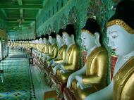 Asisbiz Sagaing U Min Thounzeh Pagoda many faces of the Buddha Dec 2000 03