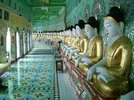 Asisbiz Sagaing U Min Thounzeh Pagoda many faces of the Buddha Dec 2000 04
