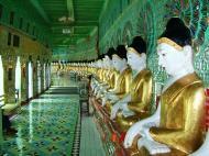 Asisbiz Sagaing U Min Thounzeh Pagoda many faces of the Buddha Dec 2000 06