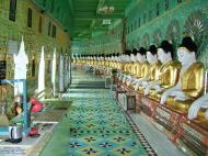 Asisbiz Sagaing U Min Thounzeh Pagoda many faces of the Buddha Dec 2000 07