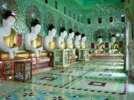 Asisbiz Sagaing U Min Thounzeh Pagoda many faces of the Buddha Dec 2000 09