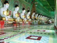 Asisbiz Sagaing U Min Thounzeh Pagoda many faces of the Buddha Dec 2000 10