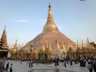 Asisbiz Myanmar Yangon Shwedagon Pagoda at twilight Dec 2009 01