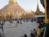 Asisbiz Myanmar Yangon Shwedagon Pagoda at twilight Dec 2009 02