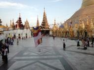 Asisbiz Myanmar Yangon Shwedagon Pagoda at twilight Dec 2009 03
