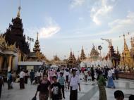 Asisbiz Myanmar Yangon Shwedagon Pagoda at twilight Dec 2009 05