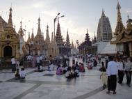 Asisbiz Myanmar Yangon Shwedagon Pagoda at twilight Dec 2009 10