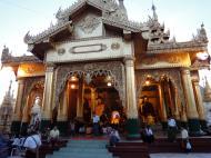Asisbiz Myanmar Yangon Shwedagon Pagoda at twilight Dec 2009 13