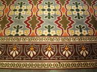 Asisbiz Shwethalyaung Buddha ornate floor tiling Bago 02
