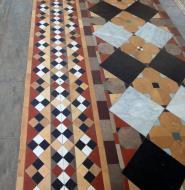 Asisbiz Shwethalyaung Buddha ornate floor tiling Bago 04