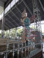 Asisbiz Shwethalyaung Buddha ornate guardians Bago 03