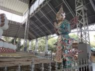 Asisbiz Shwethalyaung Buddha ornate guardians Bago 04