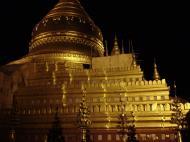 Asisbiz Pagan Shwezigon Pagoda at night Dec 2000 01