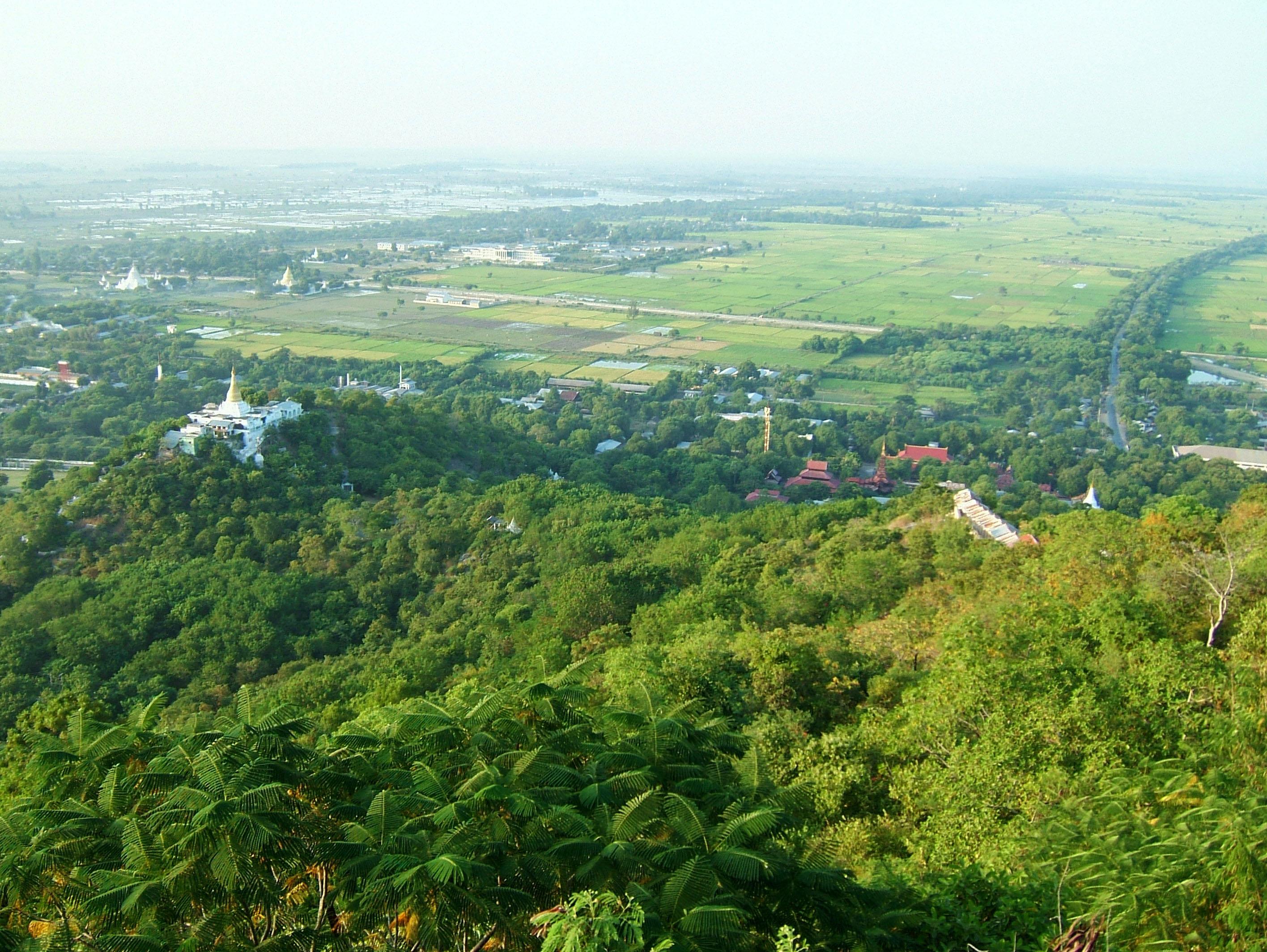 Mandalay Hill Sutaungpyei Pagoda panoramic views Dec 2000 23