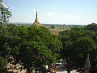 Asisbiz Thanboddhay paya seen from the tower Monywa Dec 2000 01