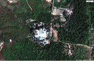 Asisbiz 0 Between Kyauktan and Thilawa Port blue pagoda satellite 02