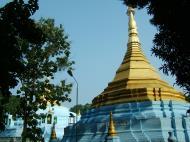 Asisbiz Between Kyauktan and Thilawa Port blue pagoda Oct 2004 04