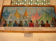 Asisbiz Area A Thanlyin Giant seated Buddha pavilion historical paintings 2009 03