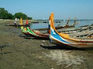 Asisbiz Myanmar Amarapura Mandalay Thaungthaman lake boats Nov 2004 01