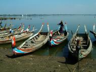 Asisbiz Myanmar Amarapura Mandalay Thaungthaman lake boats Nov 2004 13