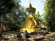 Asisbiz U To near Hle Guu dragon protecting the Buddha statue 2010 02