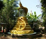 Asisbiz U To near Hle Guu dragon protecting the Buddha statue 2010 03