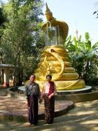 Asisbiz U To near Hle Guu dragon protecting the Buddha statue 2010 05