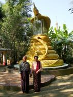 Asisbiz U To near Hle Guu dragon protecting the Buddha statue 2010 06
