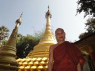 Asisbiz U To near Hle Guu way to Prome head monks assistant 2010 01