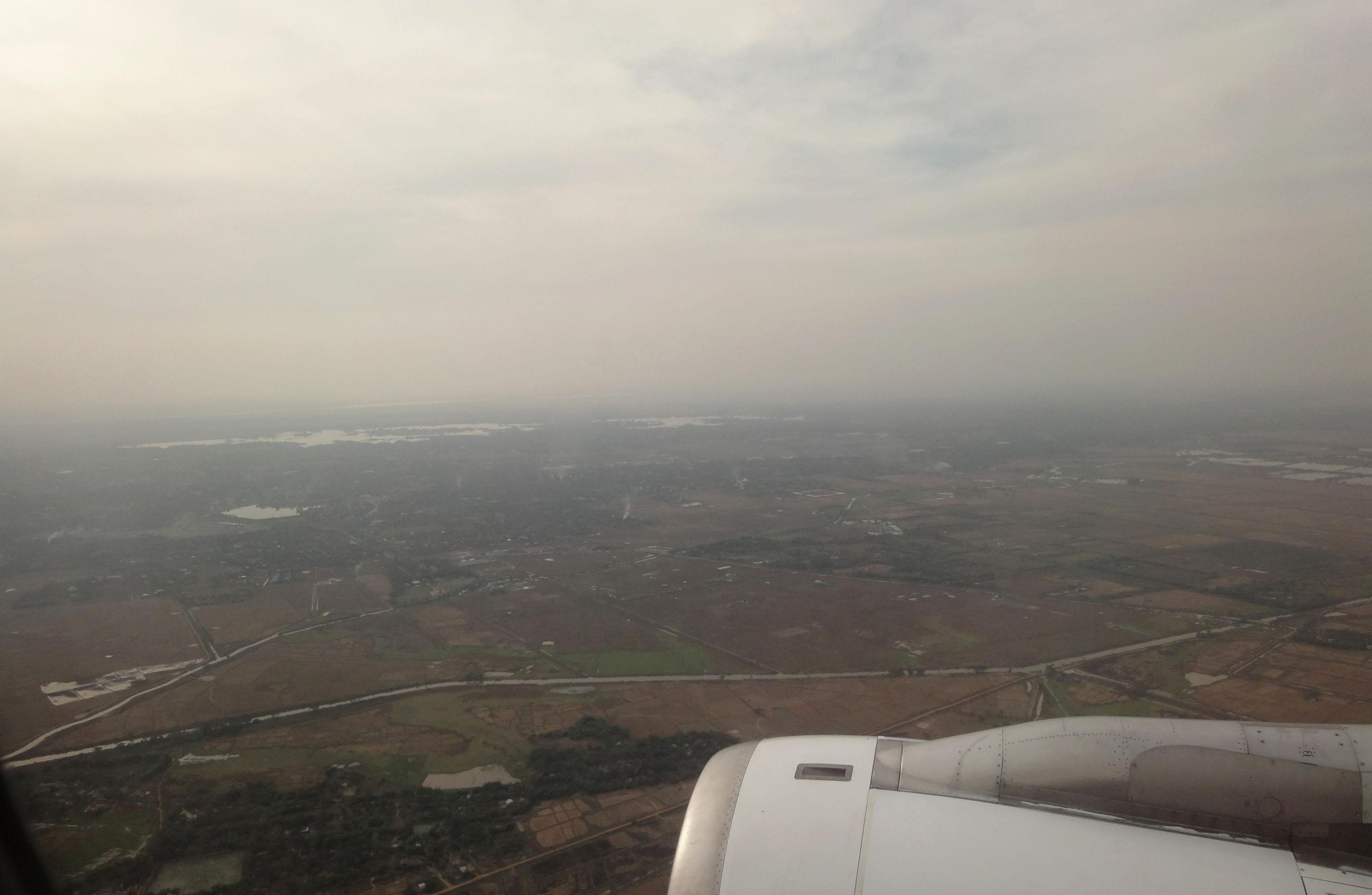 Silk Air flight SIN RGN IATA RGN ICAO VYYY Mingaladon approach 04