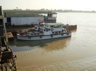 Asisbiz Myanmar Yangon port various river boats Dec 2009 01