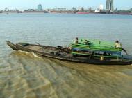 Asisbiz Myanmar Yangon port various river craft Oct 2004 04