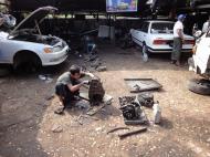 Asisbiz Myanmar Yangon car repair shop 01